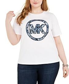 Python-Print Logo Cotton T-Shirt