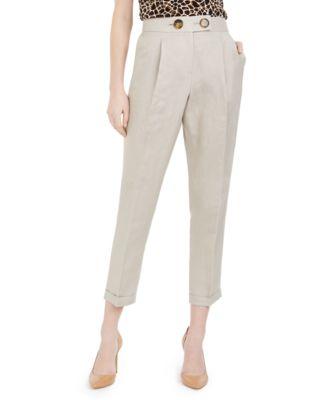 Linen Slim-Ankle Pants