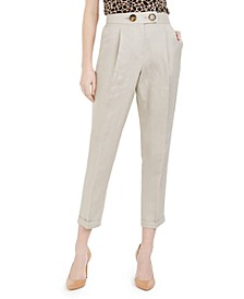 Linen Slim-Ankle Pants