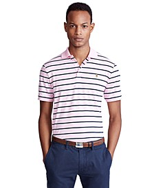 Men's Classic Fit Stripe Polo Shirt