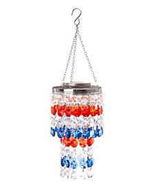 Solar Lighted Hanging Decor with Jewel Beads