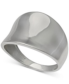 Concave Sculptural Statement Ring in Sterling Silver, Created for Macy's