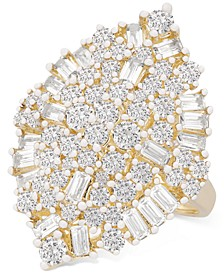 Diamond Baguette Cluster Ring (2 ct. t.w.) in 14k Gold, Created for Macy's