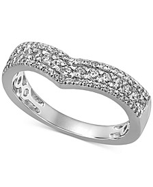 Diamond Chevron Band (1/2 ct. t.w.) in 14k White Gold