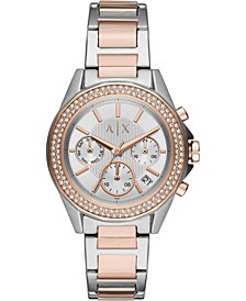 Women's Chronograph Lady Drexler Two-Tone Stainless Steel Bracelet Watch 40mm