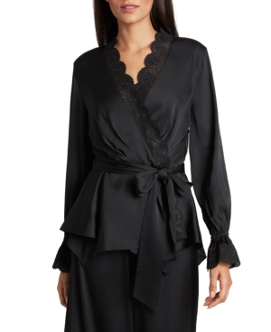 Tahari Asl LACE-TRIM SATIN JACKET