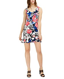 Floral-Print Flounce Dress, Created For Macy's