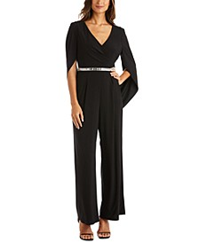 Embellished Draped-Back Jumpsuit
