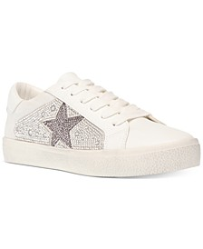 Women's Philip Rhinestone Lace-Up Sneakers