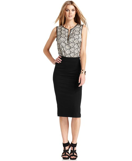 090972356c Vince Camuto Ponte-Knit Midi Skirt & Reviews - Skirts - Women - Macy's