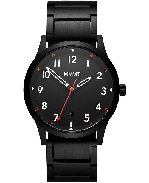 MVMT Men's Field Black Stainless Steel Bracelet Watch 41mm