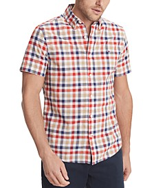 Men's Custom-Fit York Plaid Short Sleeve Shirt