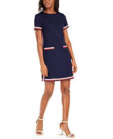 Tommy Hilfiger Striped-Trim Dress