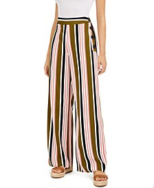 Striped Wide-Leg Pants, Created for Macy's