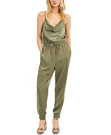 Satin Jogger Jumpsuit, Created for Macy's
