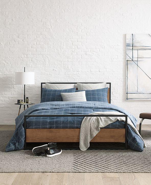 Kenneth Cole Holden Grid Full/Queen Comforter Set