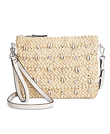 INC Straw & Shell Crossbody, Created For Macy's