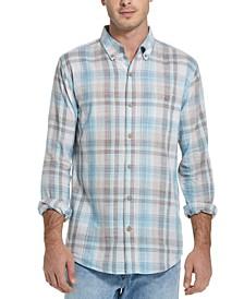 Men's Regular-Fit End-On-End Plaid Shirt