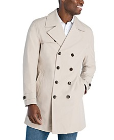 Men's Bennet Classic-Fit Double Breasted Cropped Belted Trenchcoat