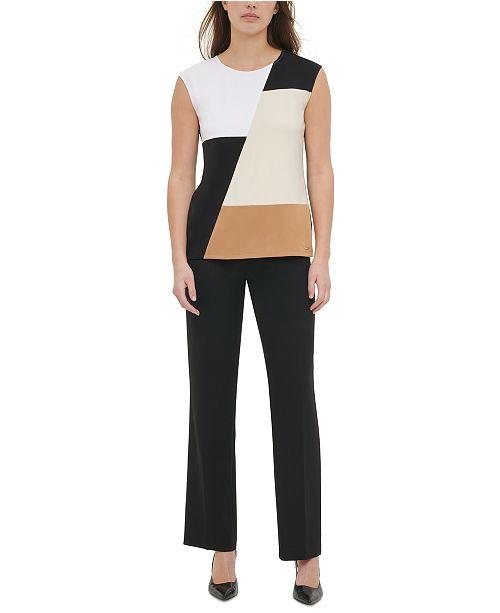 Calvin Klein Colorblocked Sleeveless Top