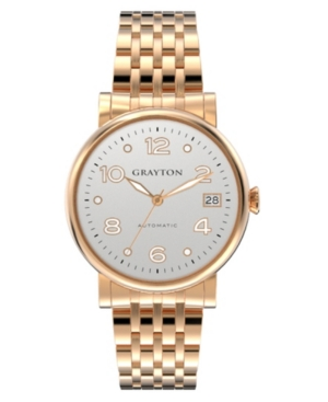 Women's Classic Collection Rose Gold Tone Stainless Steel Bracelet 36mm