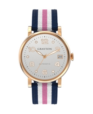 Women's Classic Collection White Pink 3 Colors Fabric Strap Watch 36mm