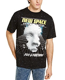 Men's Oversized New Space Graphic T-Shirt