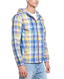 Men's Plaid Hooded Jacket