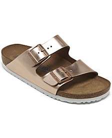 Women's Arizona Metallic Copper Leather Soft footbed Casual Sandals from Finish Line