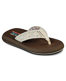 Women's Cali Asana Flip Flop Thong Sandals from Finish Line