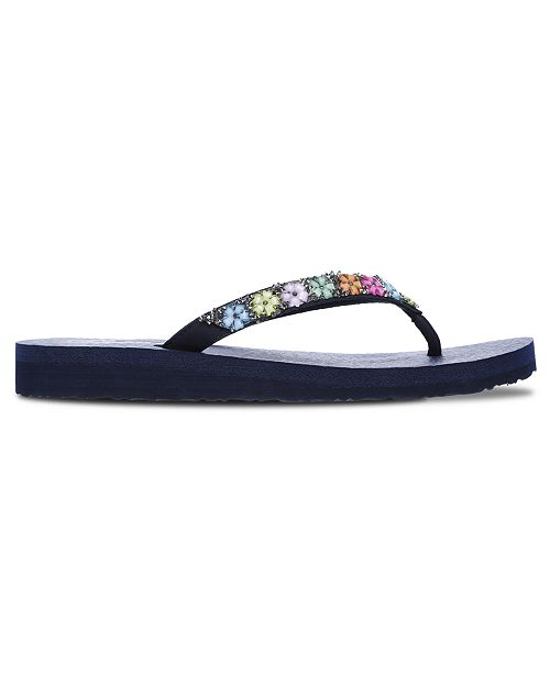 Women's Cali Meditation Daisy Delight Flip Flop Thong Athletic Sandals from Finish Line