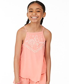 Big Girls Printed Challis Top, Created for Macy's
