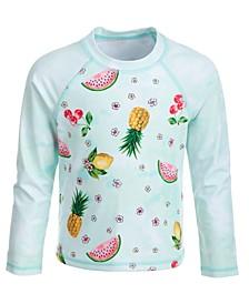 Toddler Girls Tropical Fruit Long-Sleeve Rash Guard