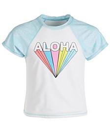 Big Girls Aloha Short-Sleeve Rash Guard