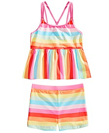 Big Girls 2-Pc. Striped Tankini Set, Created for Macy's