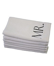 Monogram Mr. & Mrs. 6-Pc. Turkish Cotton Guest Towel Set