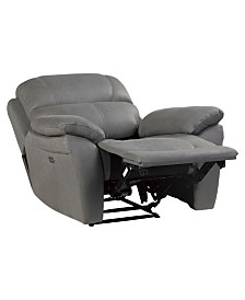 Benzara Swivel Recliner Chair in Polyfiber Fabric & Reviews
