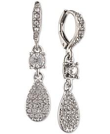 Pavé Pear-Shape Drop Earrings