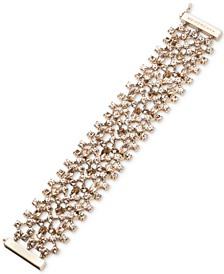 Gold-Tone Crystal Statement Flex Bracelet