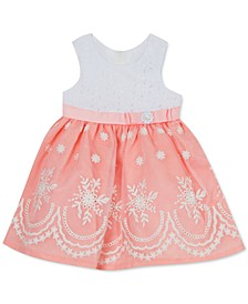 Baby Girls Embroidered Eyelet Organza Dress