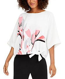 Printed Side-Tie Top, Created For Macy's