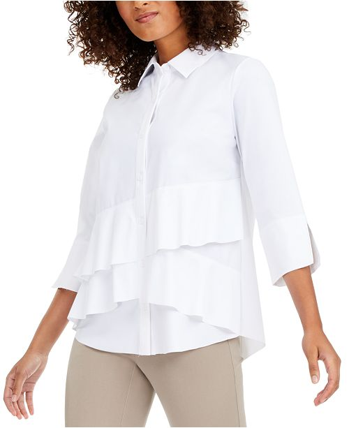 Alfani Tiered Shirt, Created for Macy's