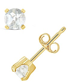 Garnet (5/8 ct. t.w.) Stud Earrings in 14K Yellow Gold (Also Available in Other Birthstones)
