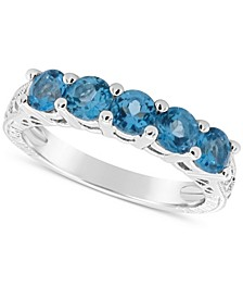 Swiss Blue Topaz (1-1/2 ct. t.w.) Ring in Sterling Silver (Also Available in Other Birthstones)