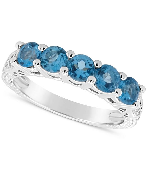 Macy's Swiss Blue Topaz (1-1/2 ct. t.w.) Ring in Sterling Silver (Also Available in Other Birthstones)