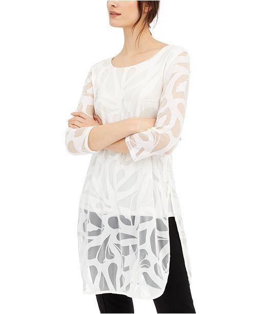 Alfani Lace Mesh Tunic, Created for Macy's