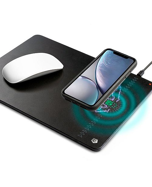 Cobble Pro 10 Watt Fast Charging Leather Mouse Pad