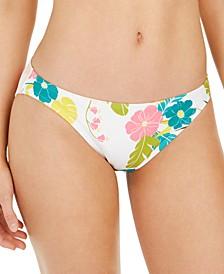 Floral-Print Classic Bikini Bottom