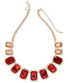 "Gold-Tone Ombré Stone Collar Necklace, 18"" + 3"" extender, Created for Macy's"