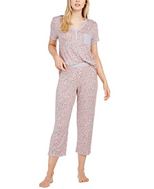 Henley Top & Capri Pants Pajama Set
